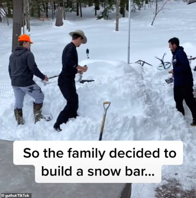 Amazing:TikTok user Mike Gutshall, who is known as @guthut on the platform, revealed that he and his relatives built a backyard snow bar