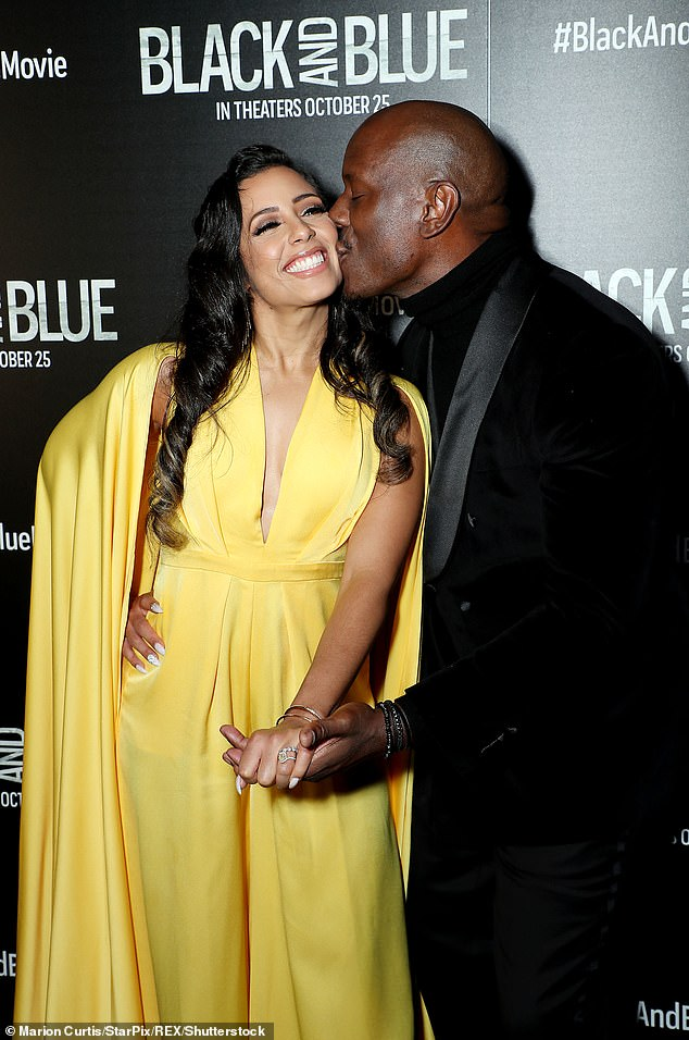It's over: Six-time Grammy nominee Tyrese Gibson and his second wife Samantha Lee jointly announced Tuesday that they're amicably divorcing after over three years of wedded bliss (pictured in 2019)