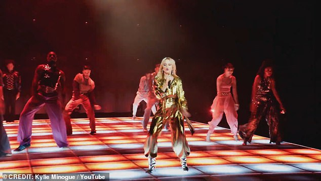 What a year! Kylie made chart history in 2020 when she became the first female artist to score a number one on the UK's Official Albums Chart in five consecutive decades (pictured in the music video for Real Groove)