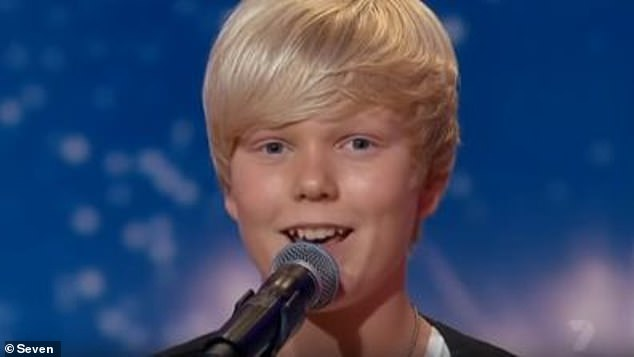 Child star: Jack soared to fame after winning Australia's Got Talent in 2011 (pictured) at the tender age of 14, and has stayed in the celebrity spotlight ever since