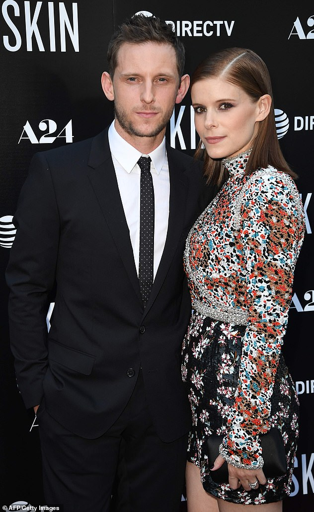 Celebrity couple: Mara is married to British actor Jamie Bell, with whom she shares a daughter, born in May 2019. They're pictured in July 2019