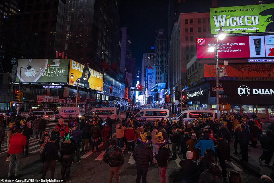 2020 ends with ball drop in an empty Times Square as millions watch from home