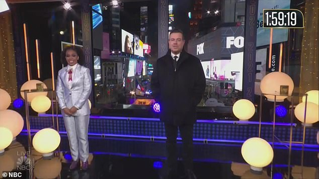 Open: They open on a very different Times Square with hosts Carson Daly and Amber Ruffin, who are the only ones there at an empty Times Square