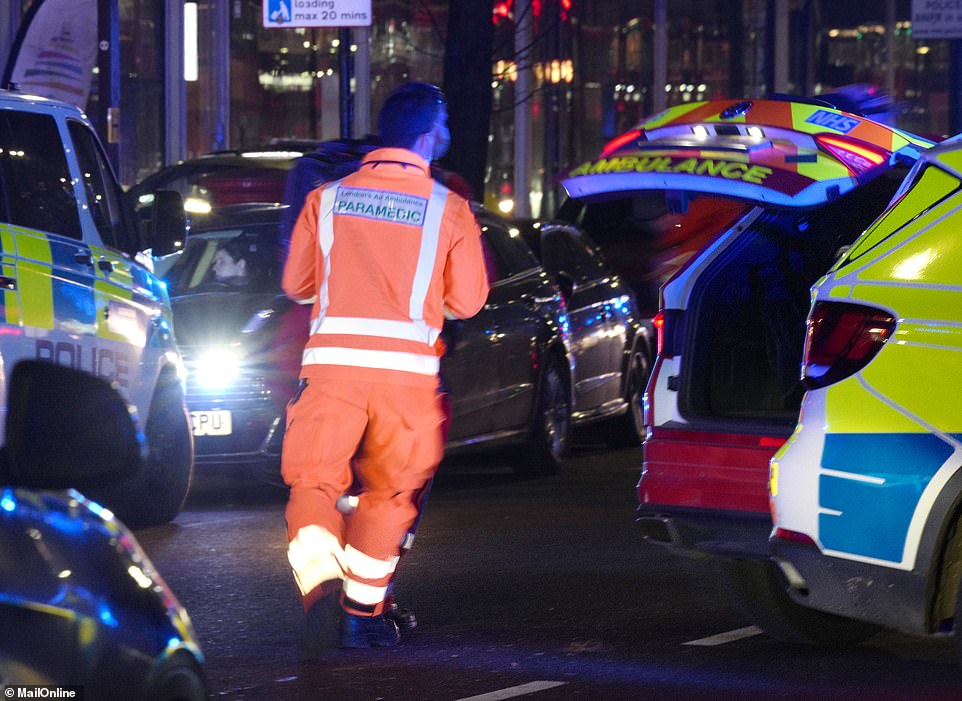 Witnesses in Edgware Road last night reported seeing up to 70 people gathered in the street before three people were injured