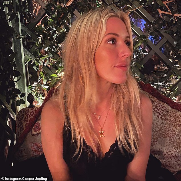 Gushing: Her art dealer love branded his wife 'god darn bl**dy perfect' in the romantic note which he posted with the various low-key photographs of them