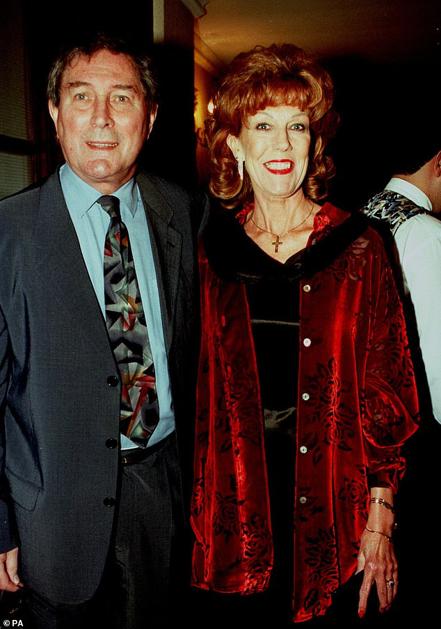 Widower: Sue doesn't have any children of her own, and said October 2019: 'I met Mark late in life, I was nearly 40, so children just didn't happen' (pictured together in August 1998)
