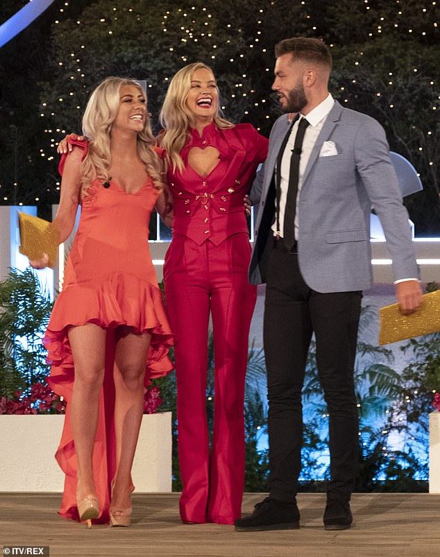 Delay: Plans to air the programme twice a year were cancelled due to the pandemic (Winter Love Island winnersPaige Turley and Finn Tapp pictured in February with host Laura)