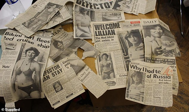 Readers loved Gasinskaya's story of first falling in love with Australia when she saw pictures in a magazine and the hatred she had felt her communist homeland since childhood. News clippings about her exploits from around the world were kept in her KGB file (pictured)