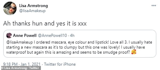 Breaking her silence?The presenter's ex-wife Lisa is yet to comment on the news although she did respond to fans on social media about her new make-up range with Avon