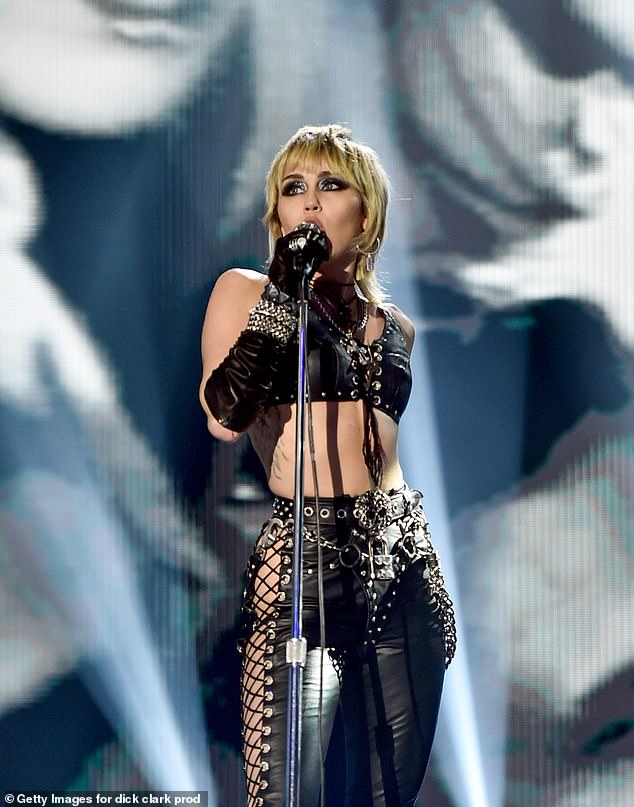 Headliner:Miley performed during Dick Clark's New Year's Rockin' Eve with Ryan Seacrest on Thursday night