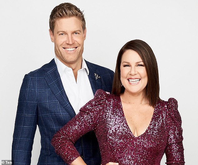'I don't think it's really his thing, is it?' I'm a Celebrity host Julia Morris (right) told Mamamia in December she had no knowledge of Pete ever being approached to join the cast. Pictured with co-host Dr Chris Brown