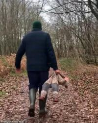Ashley Banjo carries daughter Rose like a  RAG DOLL during New Year's Day walk