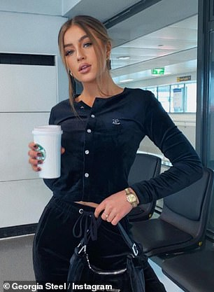 Enjoying yourself girls? On Monday, Georgia Steel and Hayley Hughes - of Love Island fame - were the latest stars to jet to Dubai as they headed out to meet a host of their co-stars