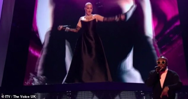 Command attention: Anne-Marie won fans over during her judging debut on The Voice UK this Saturday evening and she delivered a shows-stopper performance in a corset gown
