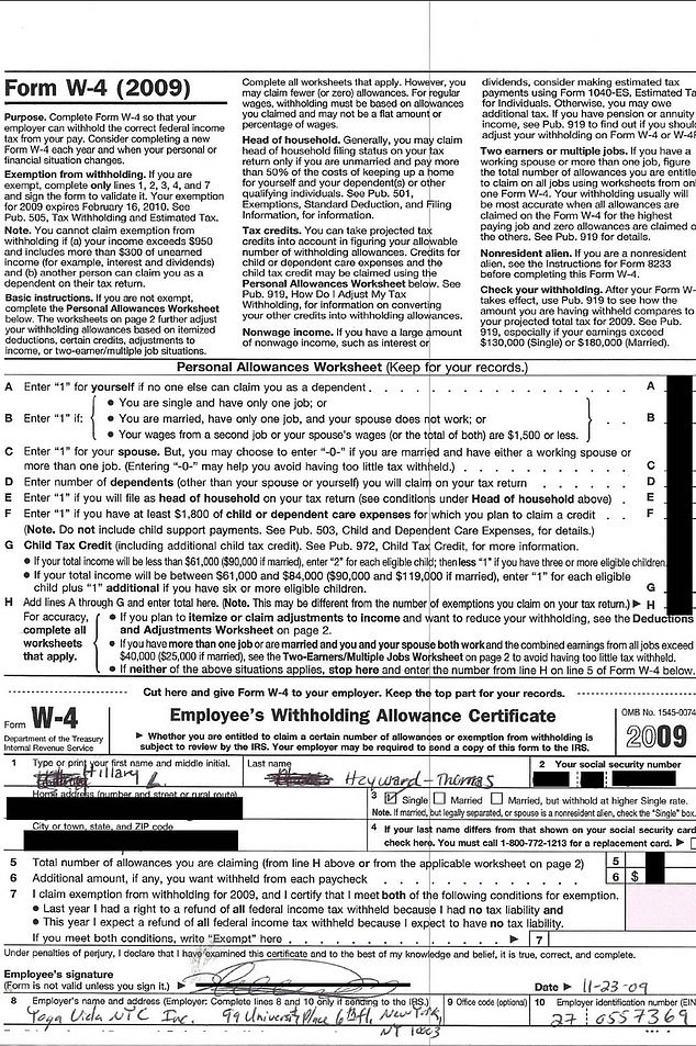 Hilaria or Hillary? Newly resurfaced 2009 tax form shows Baldwin took two attempts to get name right