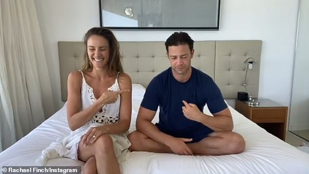 Aww!Rachael Finch and husband Michael Miziner celebrated their eighth wedding anniversary in a sweet way on Sunday. The couple shared an Instagram video in which they did a couples quiz, hosted by Rachael's sister over the phone. Both pictured