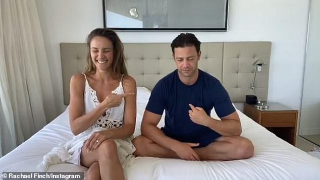 Rachael Finch celebrates eight year wedding anniversary with dancer husbandMichael Miziner