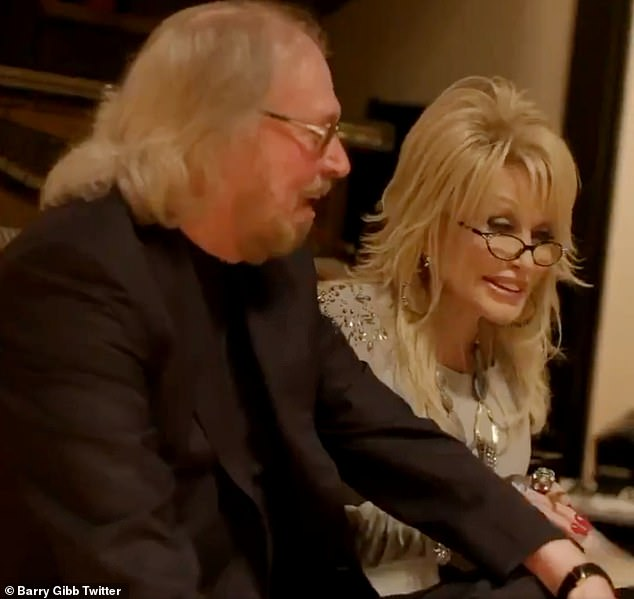 Stars:Barry re-imagined 11 Bee Gees songs and one unreleased track of his own on the country album alongside singers like like Dolly Parton (right) Sheryl Crow, Keith Urban, Olivia Newton-John, and Little Big Town