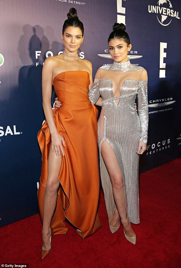 NYE getaway: Kylie and her model sister, 25, have been spending plenty of time snowboarding down the slopes and shopping in town since New Year's Eve; seen together in 2017