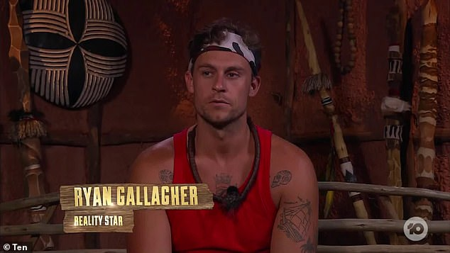 Hated At First Sight: Perez later slammed his I'm a Celebrity co-star Ryan Gallagher (pictured) in a video on YouTube in January last year