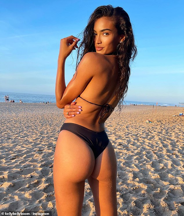 Looking good!The fitness fanatic later posted a picture showing off her toned derrière, urging fans to check out her latest workout on YouTube