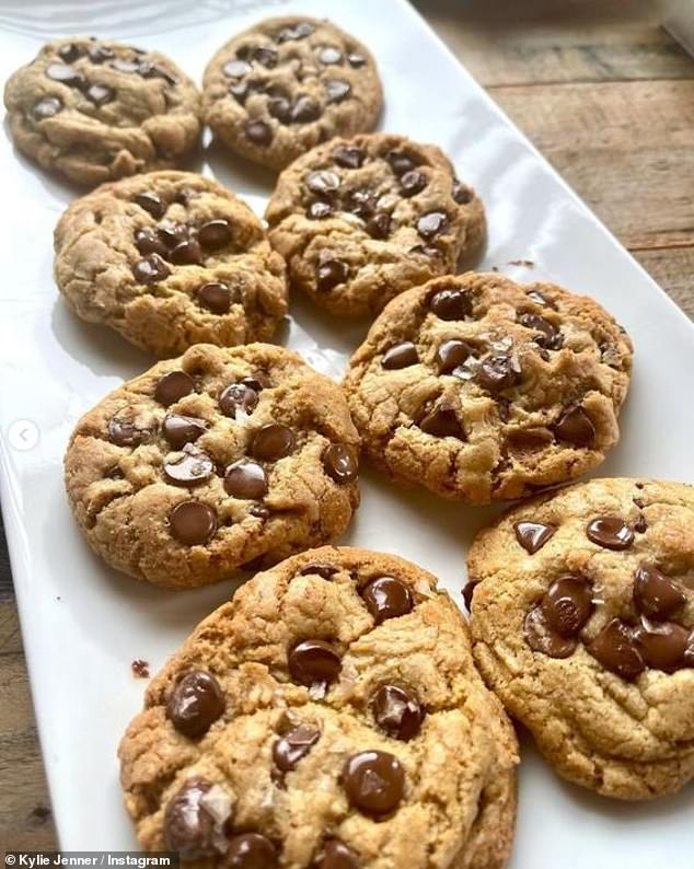Fresh cookies: The family are staying at a four-story mansion that costs a whooping $450,000 for a month's-long stay, or $25,000 for daily rentals