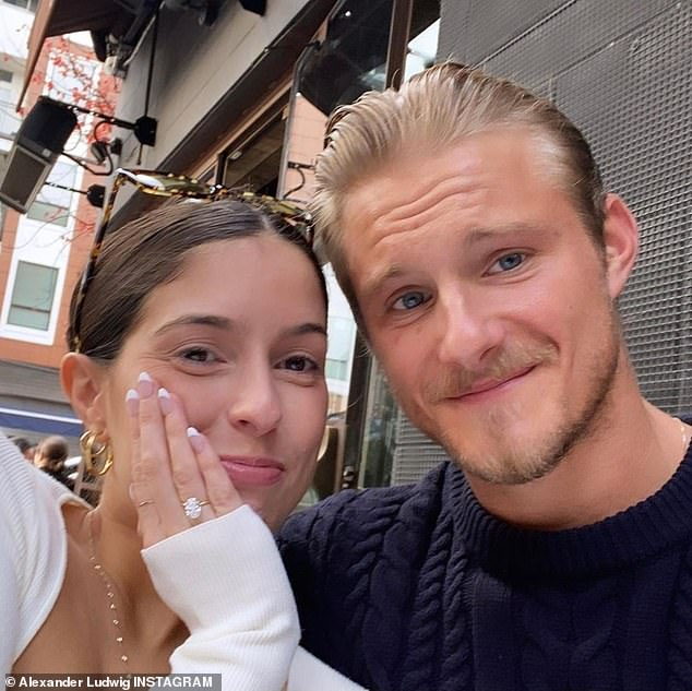 The latest: Alexander Ludwig and his fiancee Lauren Dear elope at The Lodge at Blue Sky in Utah, in a small ceremony with an only officiant, their dog Yam and a photographer on hand amid the ongoing COVID-19 pandemic