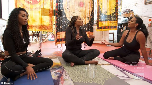 Yoga class: Cynthia told Kenya during a yoga class about her wedding plans and Kenya helped her realize that Mike might feel like she wasn't truly into the marriage and that it was about showing off for RHOA