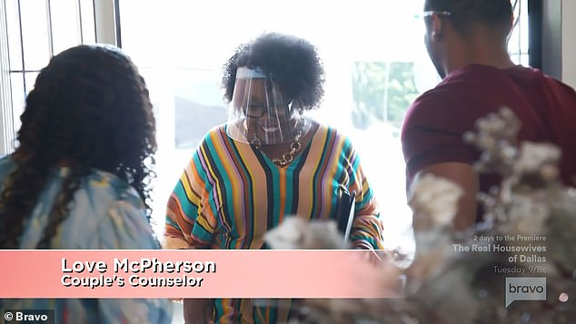 Counseling session:New RHOA cast member Drew Sidora, 35, and her husband Ralph Pittman were then shown having a couples counseling session with relationship expert Love McPherson