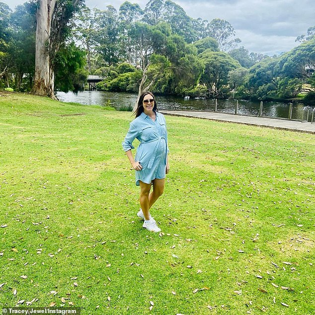 Bump update:Pregnant Married At First Sight star Tracey Jewel showed off her growing bump on Instagram on Monday while on a babymoon holiday in Denmark, Western Australia