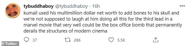 All for nought? Others joked that Nanjiani had gone to such extremes for a film that isn't widely anticipated by fans, unlike other Marvel movies