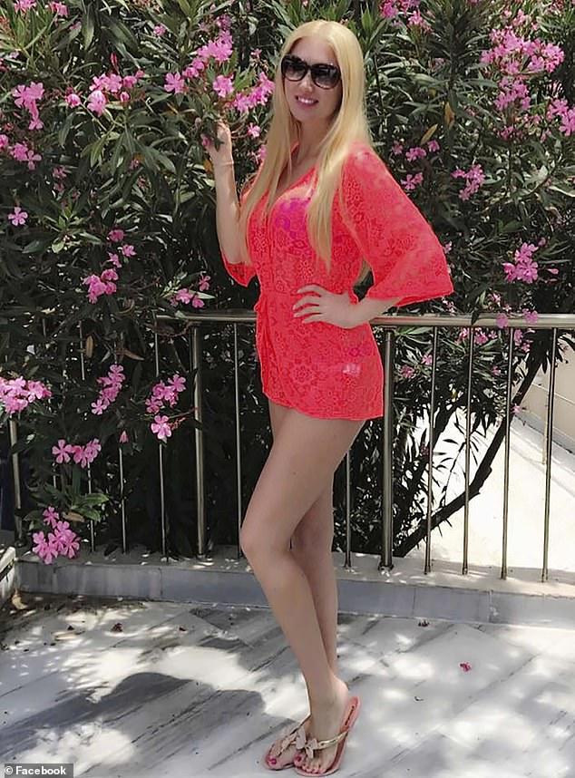Ms Novitskaya posing on a balcony