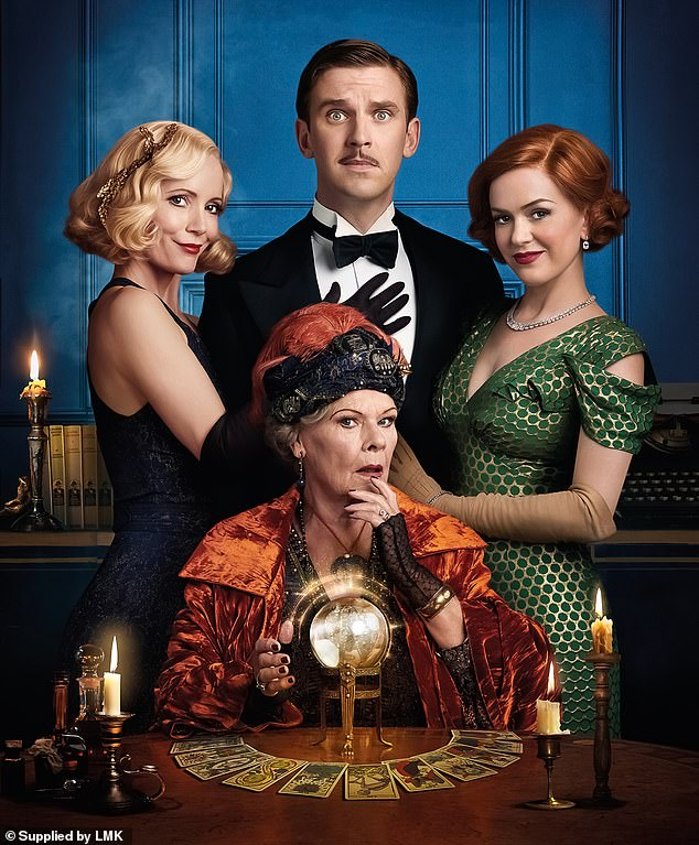 Chance encounter:Speaking ahead of the release of her new spiritual drama, Blithe Spirit, in which she plays eccentric medium Madame Arcati, she told of how a medium told her father 'I'm very pleased to hear about Judith' (above with Leslie Mann, Isla Fisher and Dan Stevens)