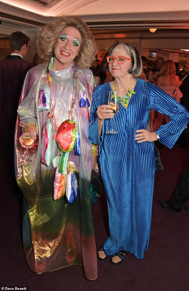 Grayson Perry and Philippa Perry attend the 65th Evening Standard Theatre Awards in association with Michael Kors at the London Coliseum on November 24, 2019 in London