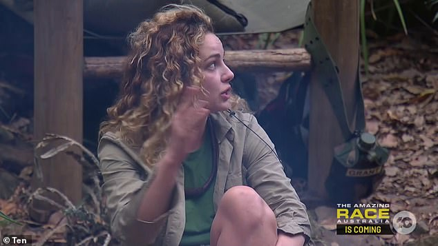 'He's got a ridiculous rig!' I'm a Celebrity's Abbie Chatfield (pictured), 26, ogled Ash Williams' rippling physique as he stripped off his shirt on Monday's episode