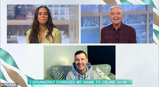 The name will go on... While on the show, they had a guest caller phone in to tell them they had got drunk and changed their name to Celine Dion, much to their amusement