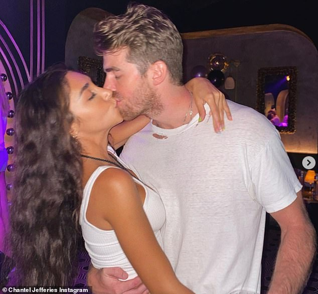 Smitten: The model, 28 and her beau, 31, had been the subject of a swirl of romance rumours for five months until Chantel finally went Instagram official with Drew in late July