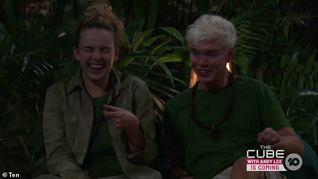 Unlikely new pals: I'm a Celebrity's Abbie Chatfield and Jack Vidgen (both pictured) admitted on Monday's episode that they 'would have a crack' at Ash Williams if they were drunk in a pub