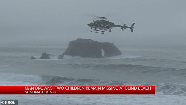 Children, ages 6 and 4, were playing by the water's edge when massive waves swept them into the water. They are now missing and presumed dead
