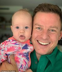 Ben Fordham attempts to put his three young children to bed while on holidays