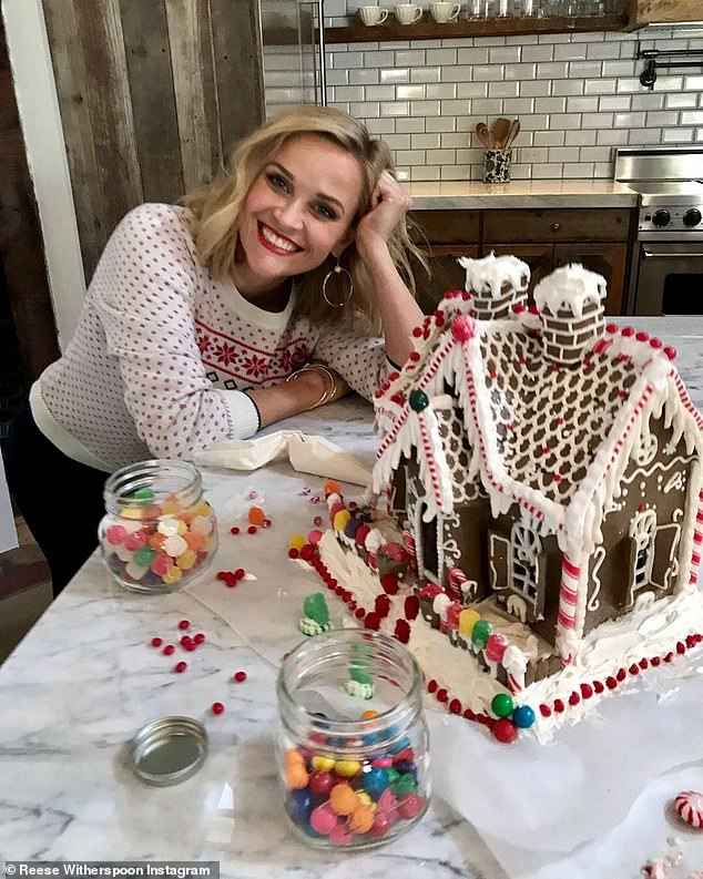 Say hi y'all:The 44-year-old actress captioned the snap of the storefront: 'This happy store makes me smile. Thank you to all of you who have shopped and supported @draperjames this past year!! If you're driving through #Nashville and spot our blue and white awnings, come on in and say hello!'