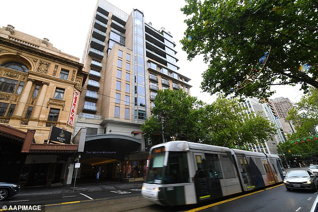 The Westin management said their 'COVID safe' plan involves having residents use a separate entrance and lifts and have no contact with players and quarantine staff