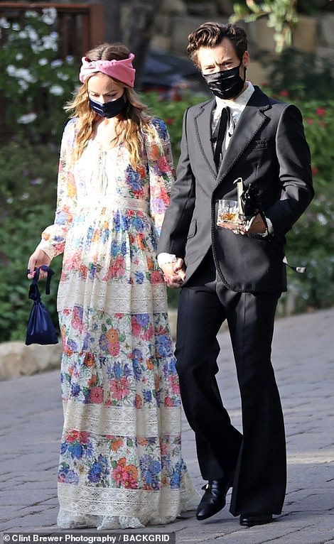 Hollywood's new power couple! Harry Styles confirmed he is dating US actress and director Olivia Wilde when the pair arrived holding hands at his agent's wedding in Montecito, CA over the weekend