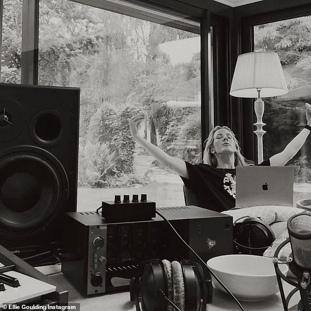 Stay home, stay sade: She included a shot of herself working from her makeshift home studio