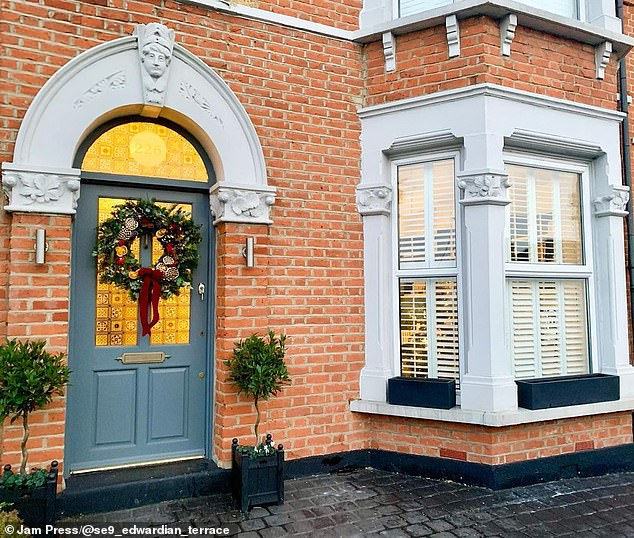The couple are beyond delighted with their home andplan on renovating the kitchen and dining room in coming months. Pictured, the home's exterior