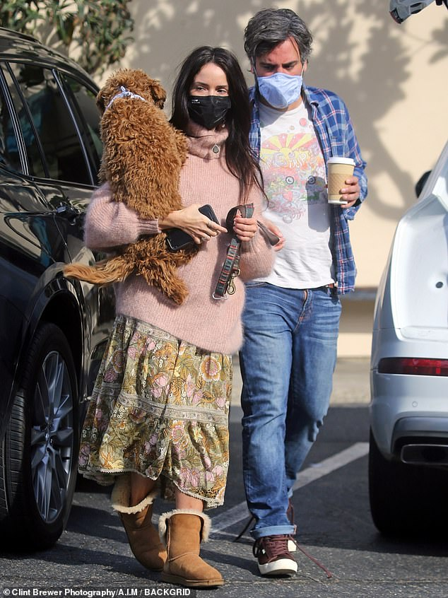 Abigail Spencer is seen hanging out with her How I Met Your Mother castmate Josh Radnor in Montecito