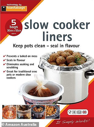 Both plastic and silicone slow cooker liner bags are available on Amazon