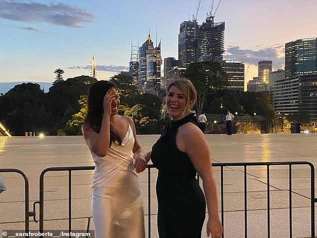 Firm friends: Sarah shared a series of photos from their outing on Instagram, including pictures with her 'hot date', Micheala Macrae