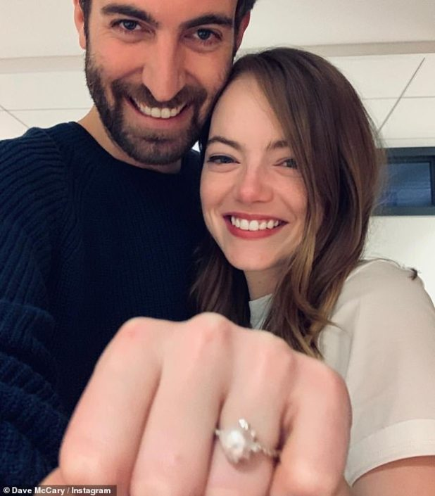 Happy news: Emma Stone has welcomed her first child with comedian Dave McCary, but her baby's gender has yet to be confirmed (file image)