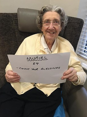 Muriel, 84, said to 'count your blessings'